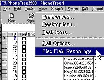 PhoneTree 3500 Reminder System Flex Field Recording